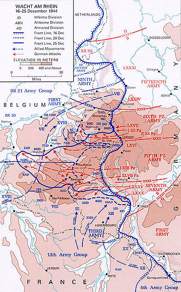 Battle of Bulge Map