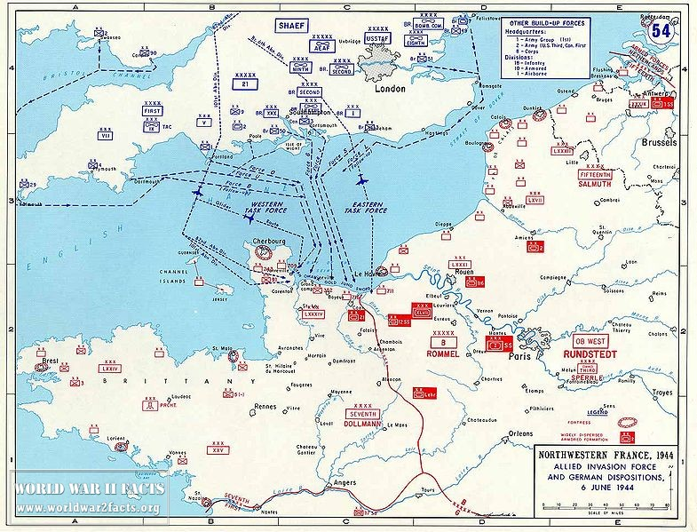 D-Day Assault Routes