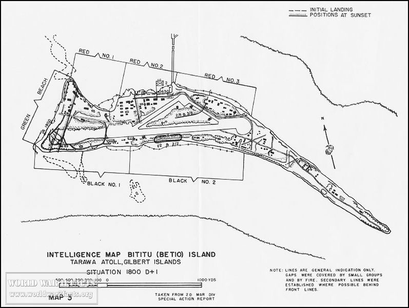 Marine Intel Map Tarawa