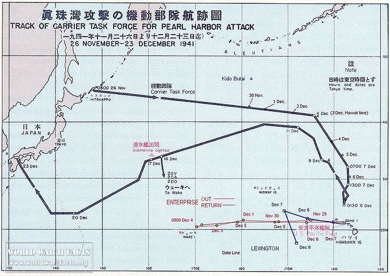 Japanese Attack Plan Route