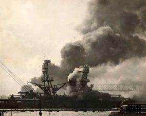 USS Nevada Attempting Escape
