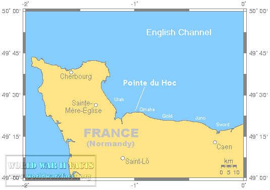 Pointe du Hoc's location