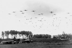 The U.S. 82nd Airborne Div. dropping on Grave, during Operation Market Garden.