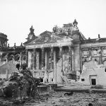 The Reichstag after its capture by the Soviet troops, 3 June 1945 Date 3 June 1945