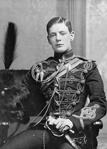 2nd Lieutenant Winston Churchill of the 4th Queen's Own Hussars in 1895. Date 1895 (Pre-1914)