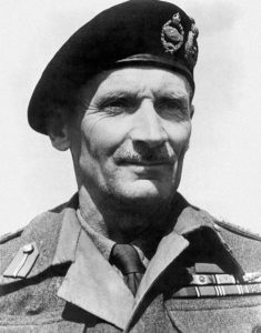 Montgomery wearing his beret with two cap badges