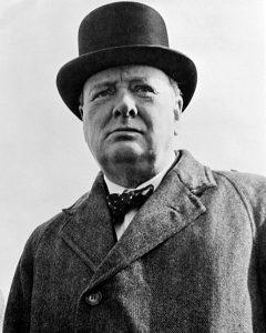 Sir Winston Churchill, 1942.