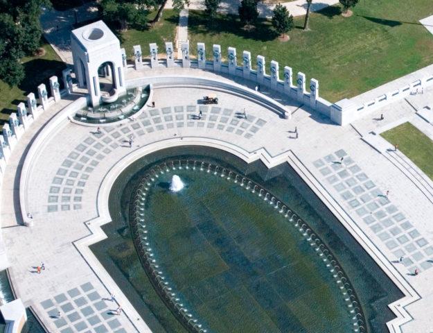 Aerial view of US World War II Memorial