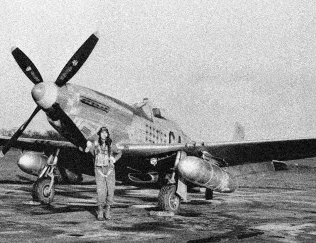 Merlin-powered P-51D-5-NT Mustang (44-11622) of the 357th Fighter Group at Leiston, U.K. The pilot is Maj. Leonard Carson. Robert F. Dorr Collection photo