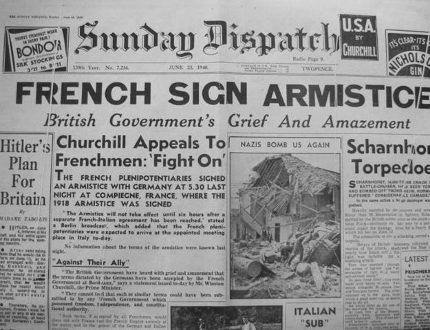 Image result for french german armistice signed